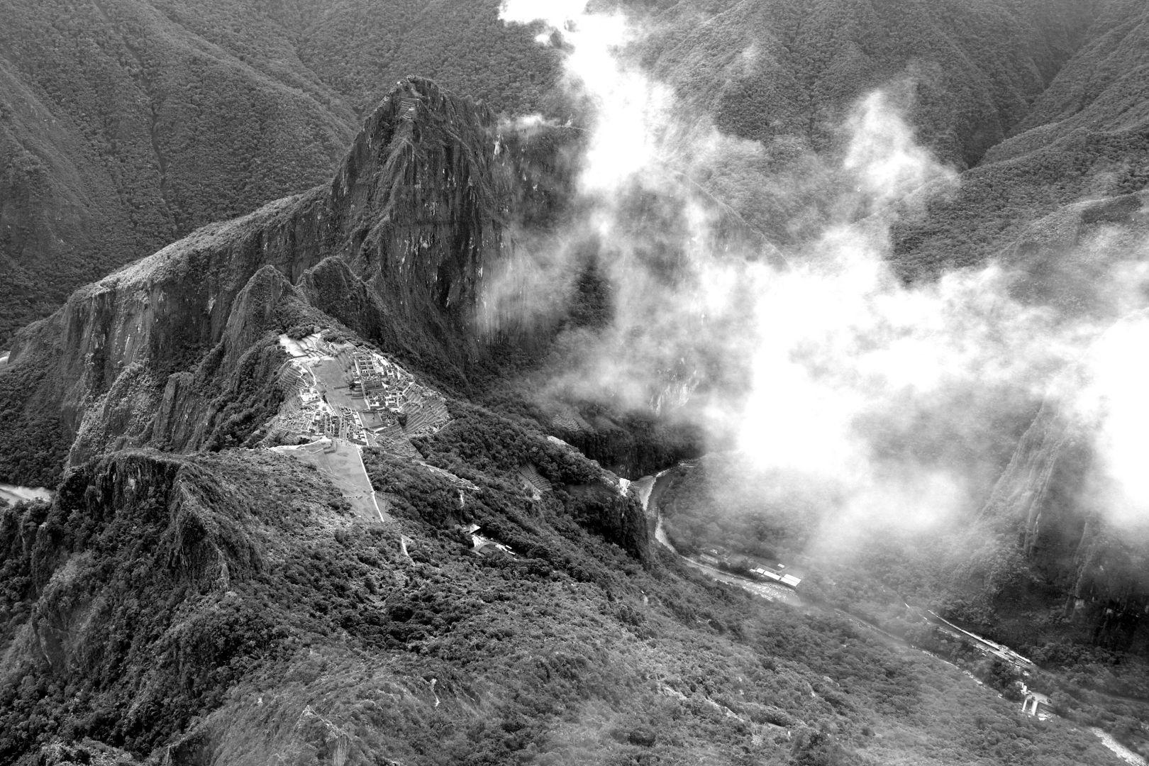 Die Ruinen vom Montaña aus