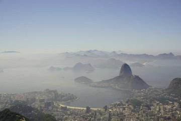 Blick auf den Zuckerhut vom Corcovado