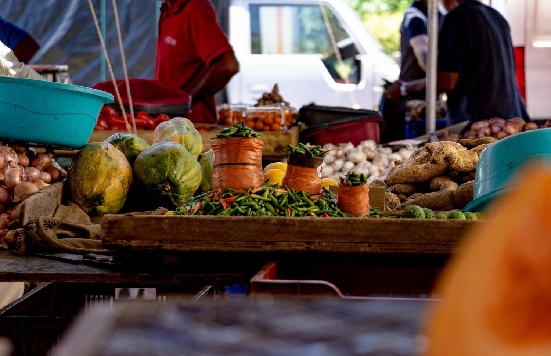 La Réunion Markt Früchte